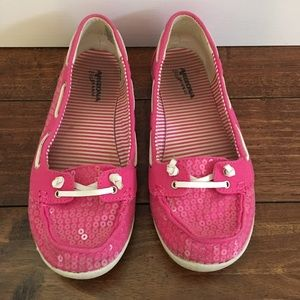 Pink Boat shoes (Sperry Top Sider dupes)